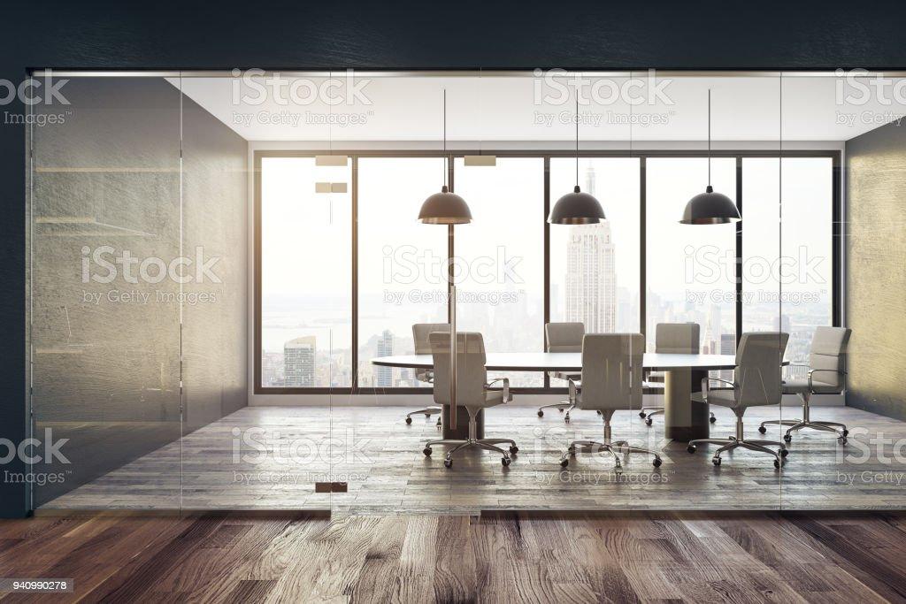 Contemporary meeting room stock photo