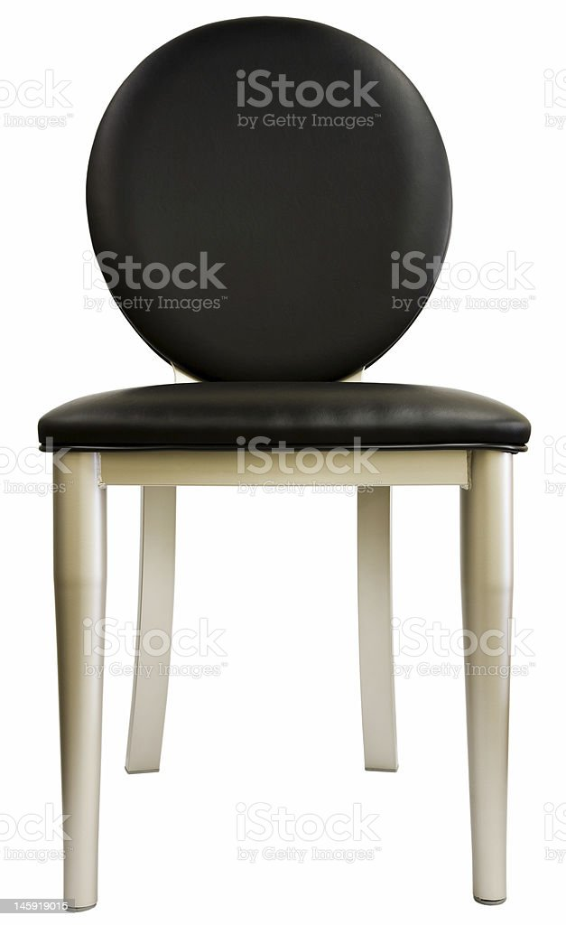 Contemporary Metal And Black Leather Dining Room Chair Stock Photo Download Image Now Istock