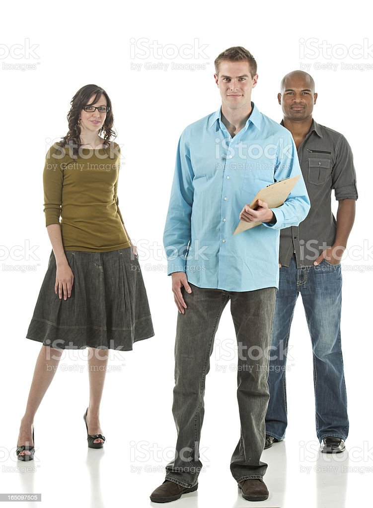 Contemporary Mixed Ethnicity Business Team (Isolated) stock photo