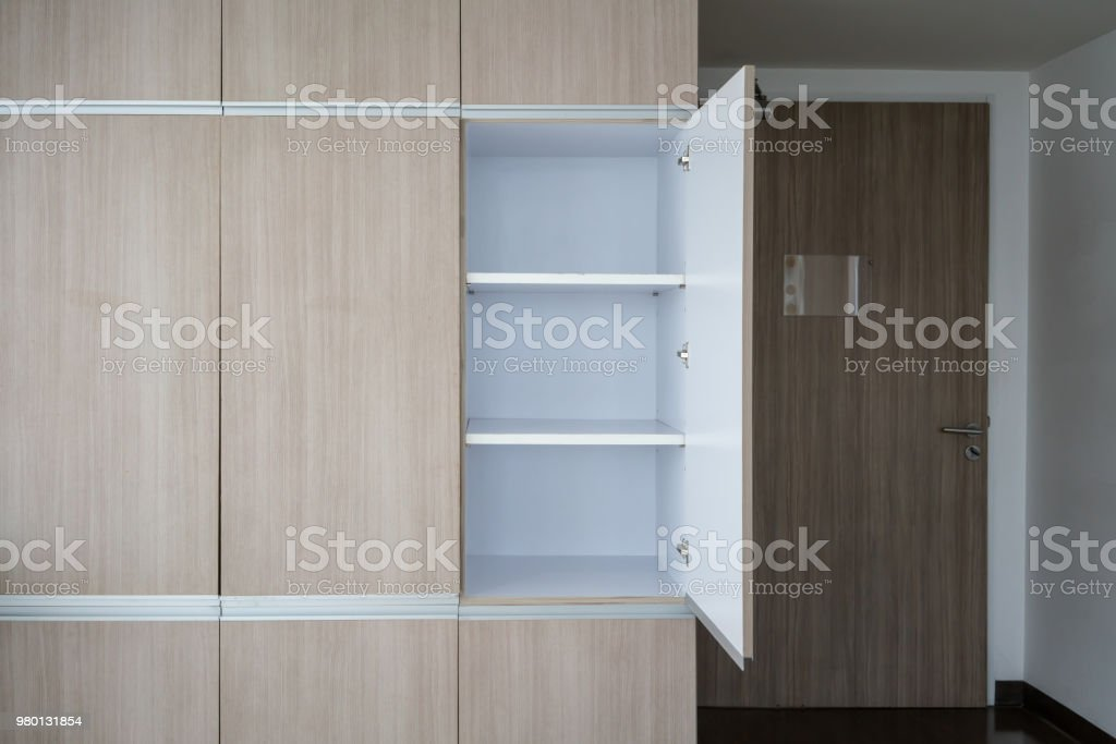 Picture of: Contemporary Modern Fully Fitted Wooden Storage Cabinet For Interior Design Stock Photo Download Image Now Istock