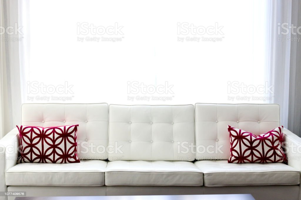 Contemporary Modern White Leather Couch Stock Photo Download Image Now Istock