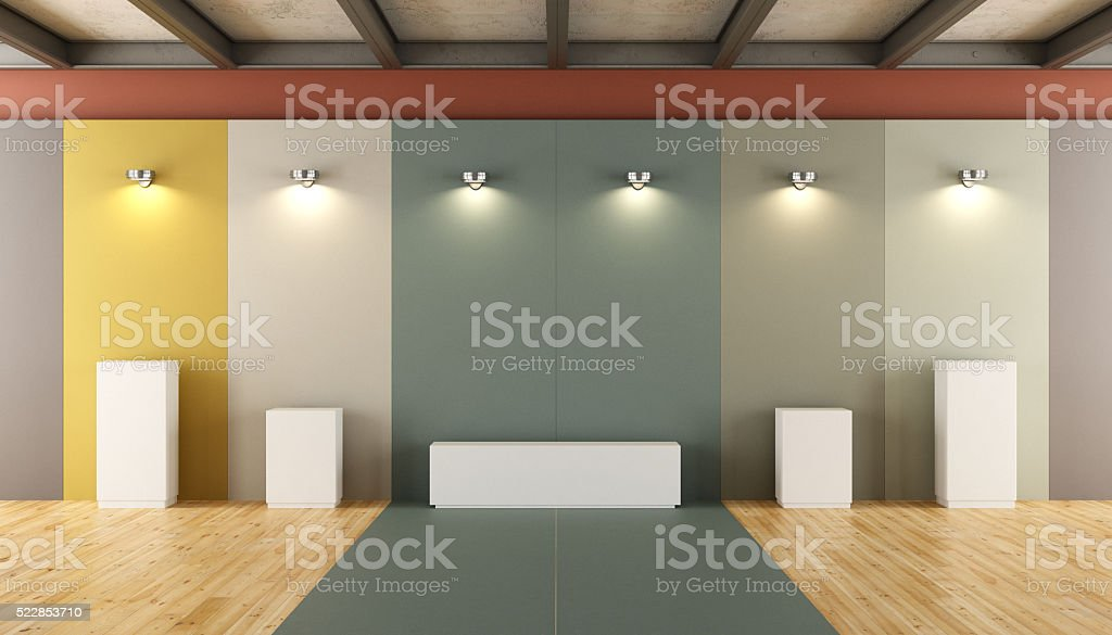 Contemporary museum for sculptures stock photo