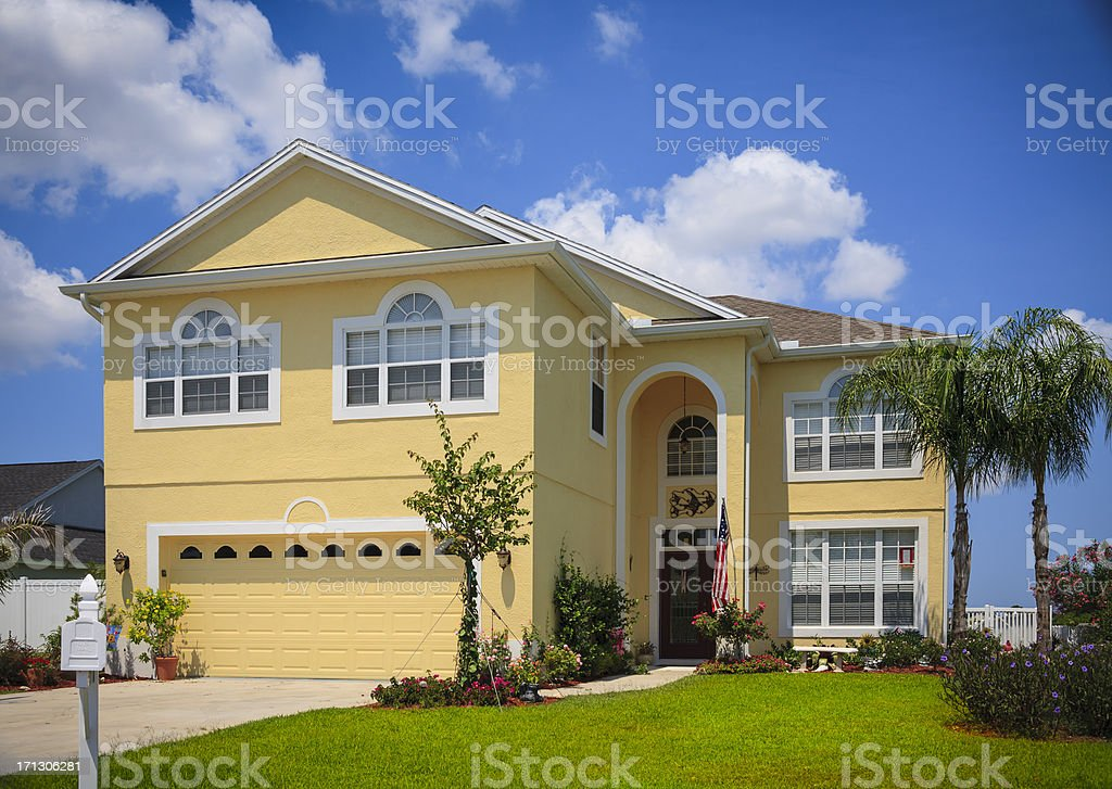 Contemporary New Home royalty-free stock photo