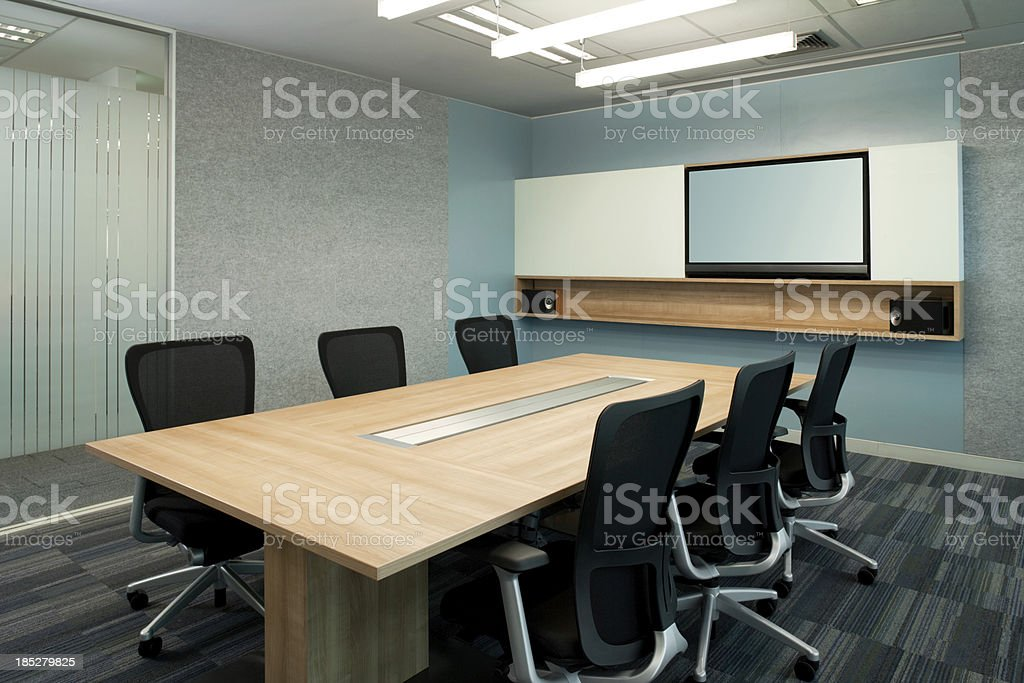 Contemporary Office Board Room royalty-free stock photo