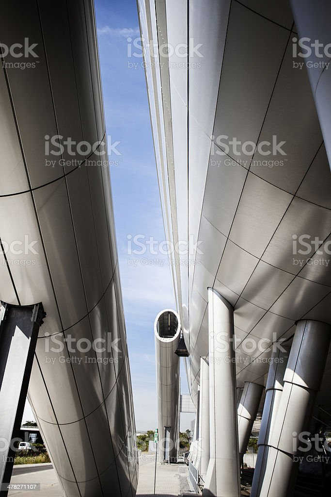 Contemporary office building, modern fire escape staircase royalty-free stock photo