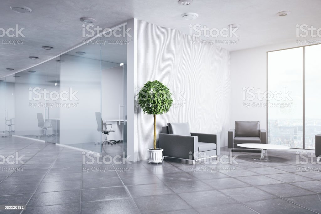 Contemporary office interior foto stock royalty-free