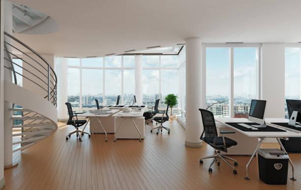 contemporary  office stock photo