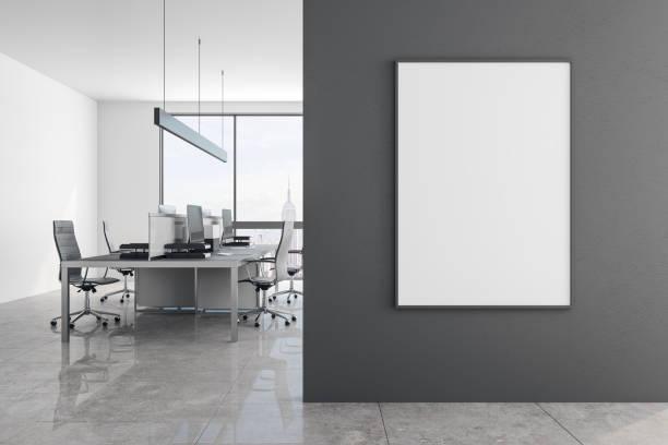 Moderne Büros mit banner – Foto