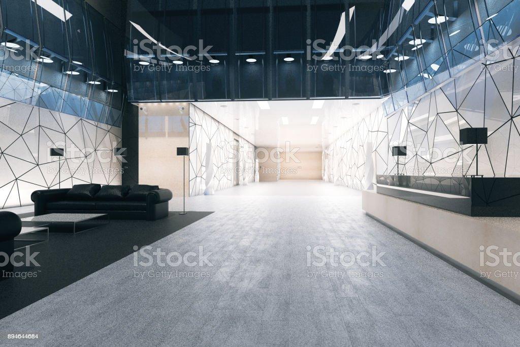 Moderne Büro Mit Rezeption Und Lounge Stock-Fotografie und mehr ...