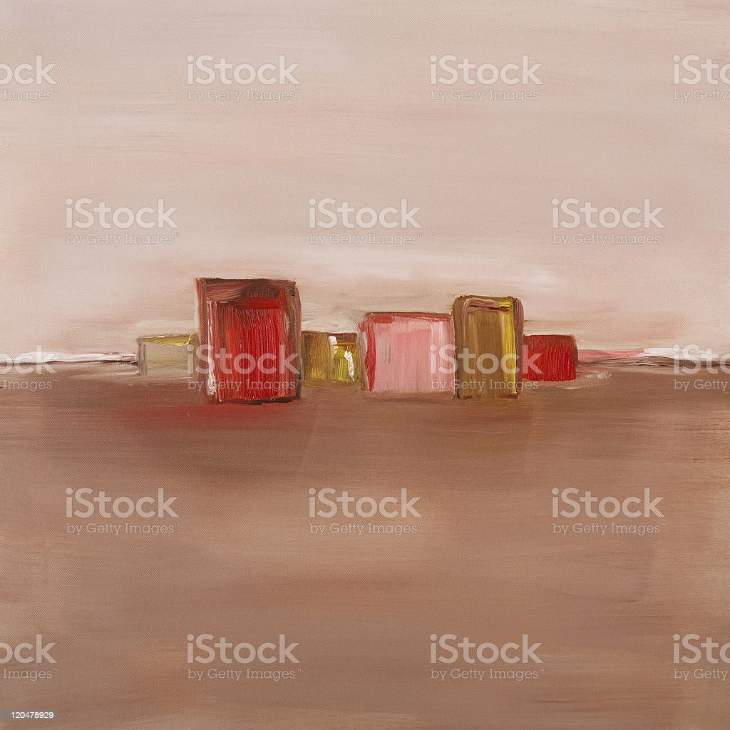 Contemporary oil painting stock photo