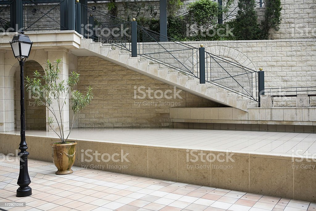 Contemporary outdoor plaza foyer royalty-free stock photo