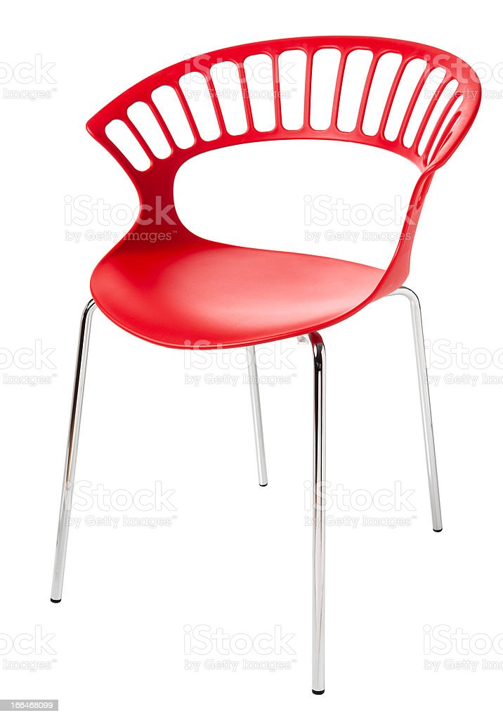 contemporary plastic chair royalty-free stock photo