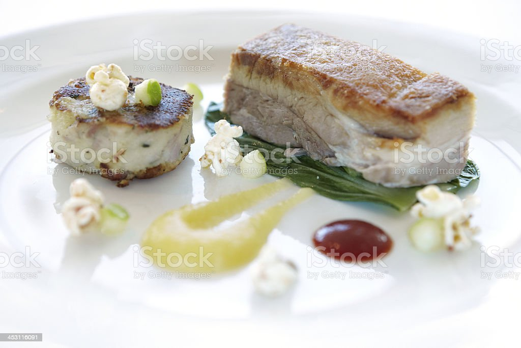 Contemporary Pork dish royalty-free stock photo