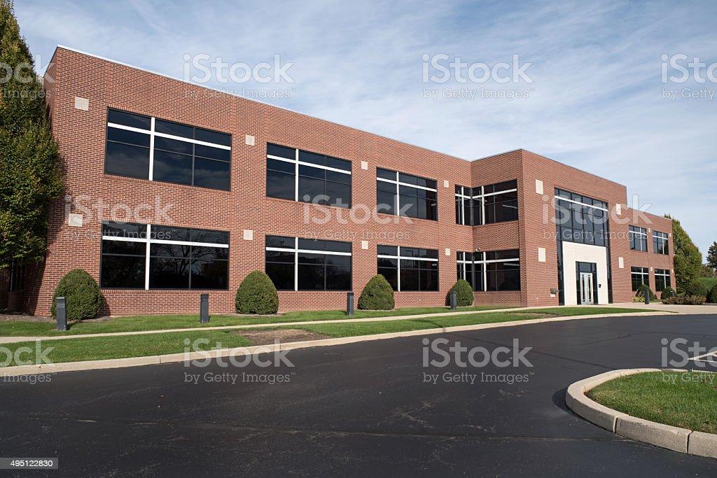 Contemporary Red Brick Building stock photo