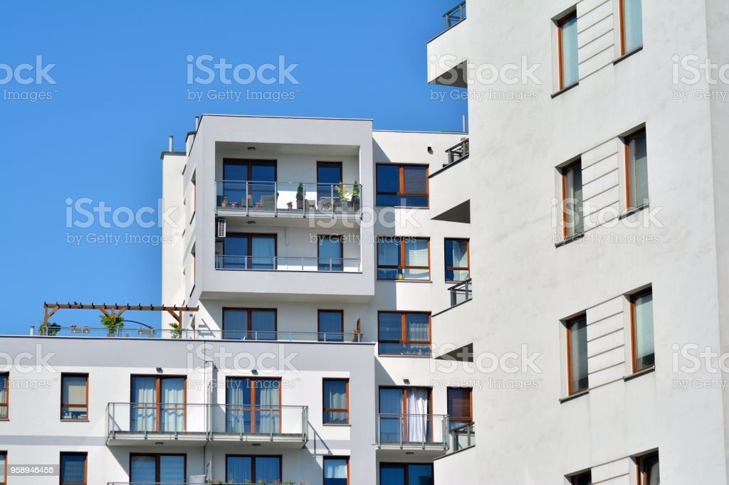 Contemporary Residential Building Exterior In The Daylight Stock Photo Download Image Now Istock