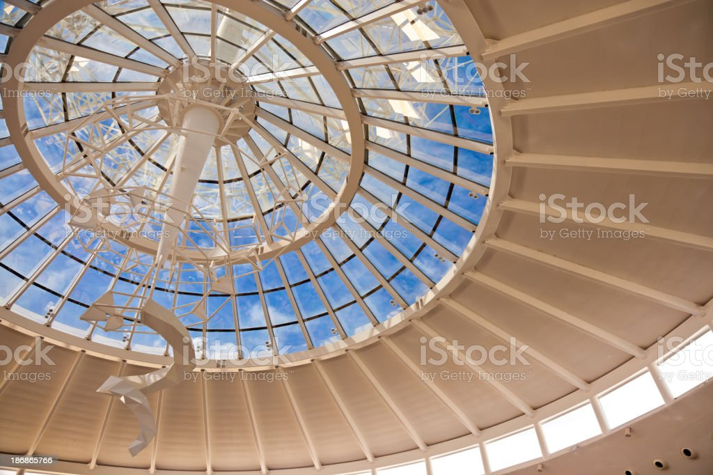 Contemporary roof structure with glass royalty-free stock photo