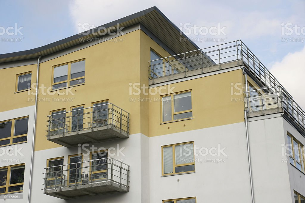 Contemporary Scandinavian designed housing royalty-free stock photo