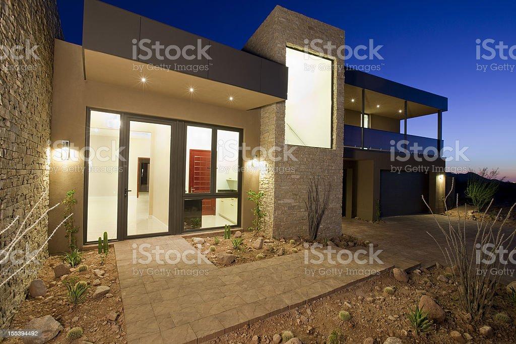 Contemporary Southwest Home stock photo