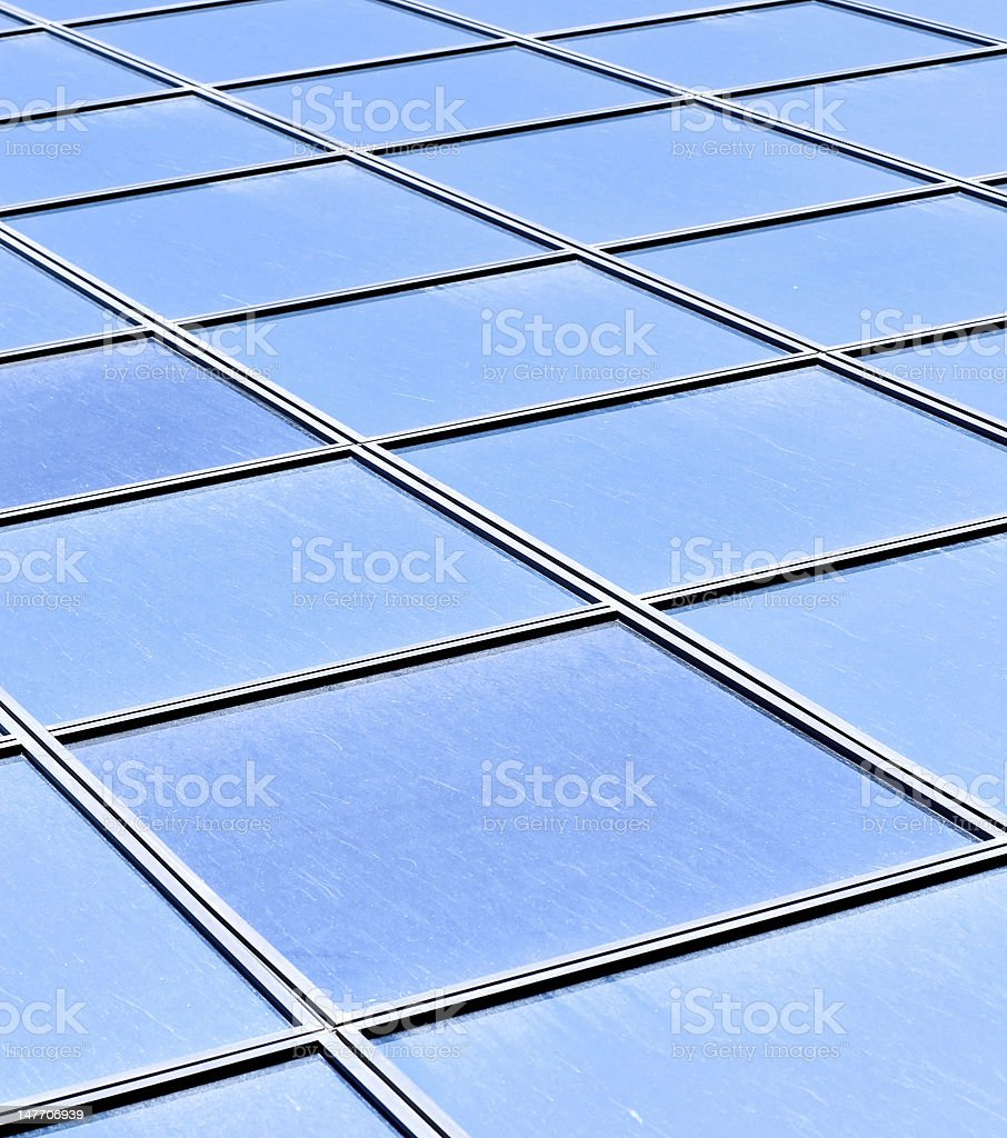contemporary striped blue texture of glass architecture royalty-free stock photo