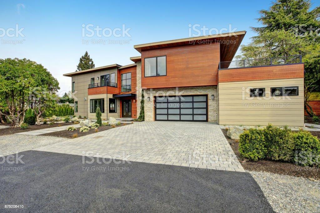 Zeitgenössischen Stil zu Hause in Bellevue – Foto