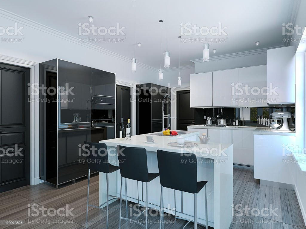 Contemporary Style Kitchen Bar Stock Photo & More Pictures of 2015 ...