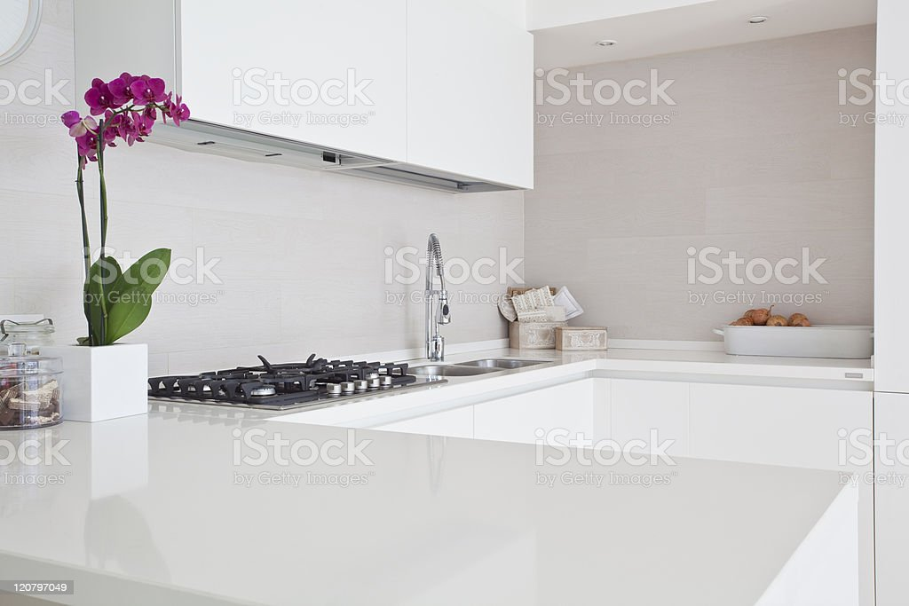 contemporary style kitchen stock photo