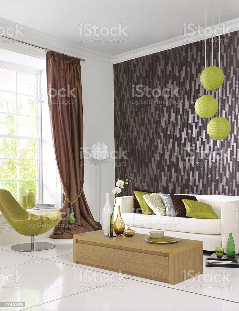 Contemporary Stylish Interior royalty-free stock photo