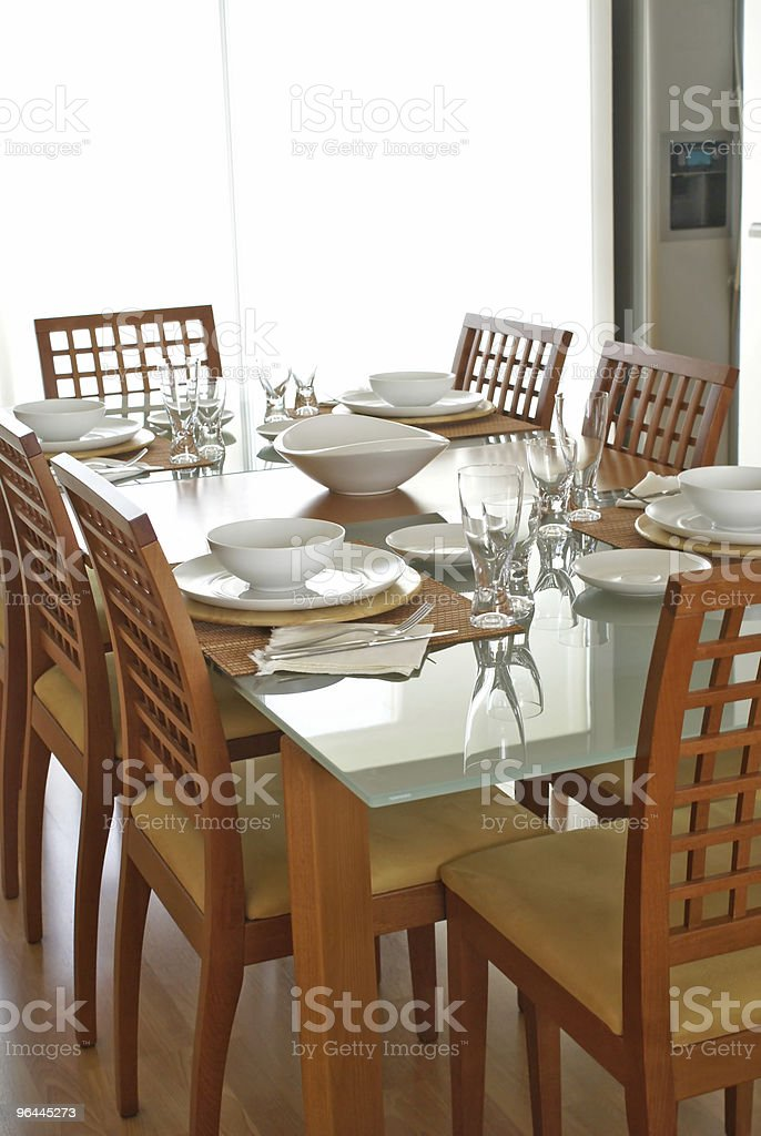 Contemporary table setting royalty-free stock photo