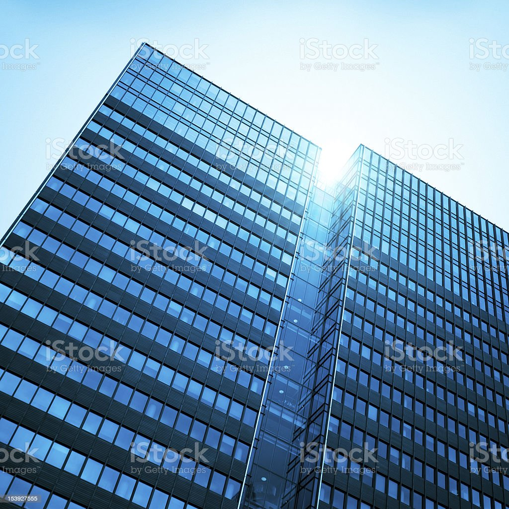 Contemporary Tall skyscraper architecture royalty-free stock photo