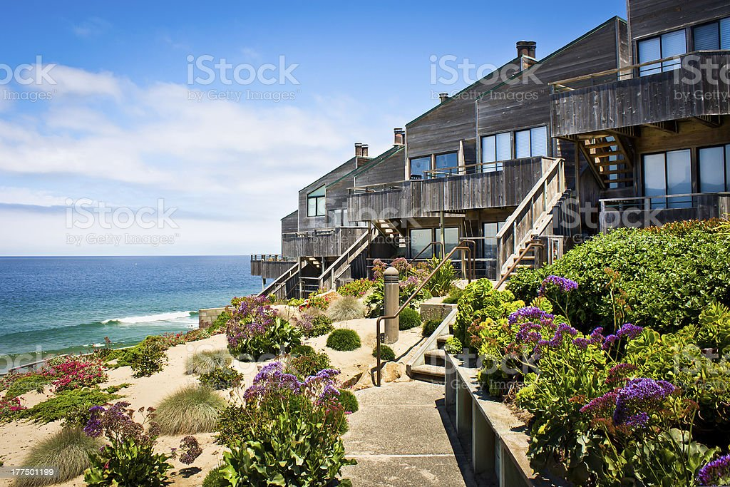 Contemporary Townhomes stock photo