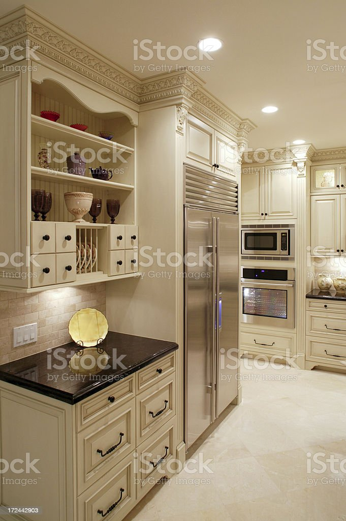 Contemporary White Kitchen royalty-free stock photo