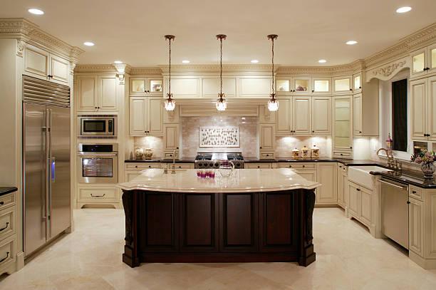 moderne weiße küche - wohnschrank stock-fotos und bilder
