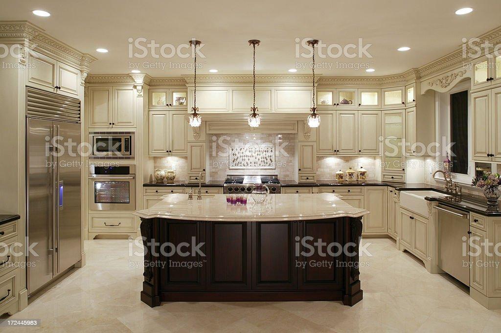 ... Contemporary White Kitchen Stock Photo ...
