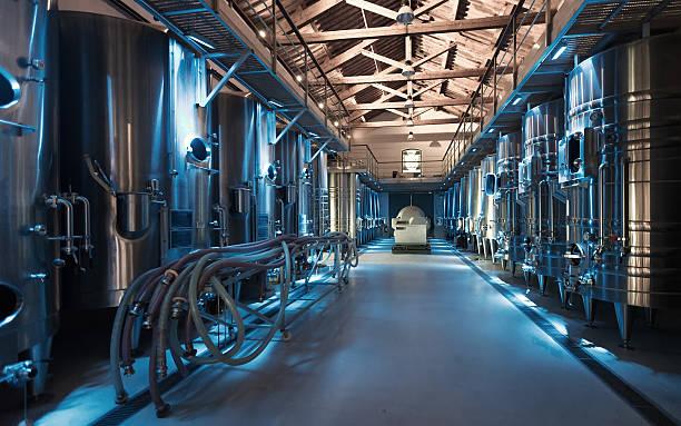 contemporary winemaker factory - livsmedelstillverkningsfabrik bildbanksfoton och bilder