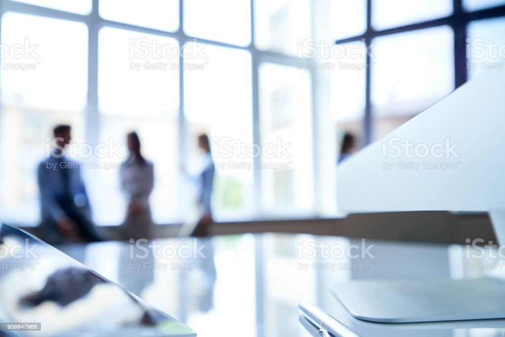 Contemporary workstation stock photo