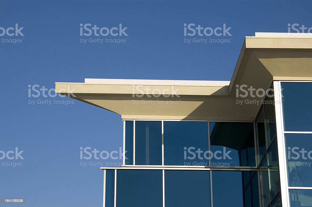 Contempory city building roof detail royalty-free stock photo