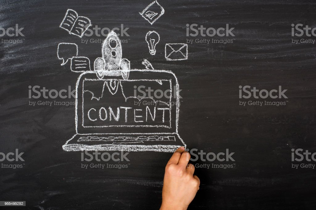 Content and Business start up stock photo