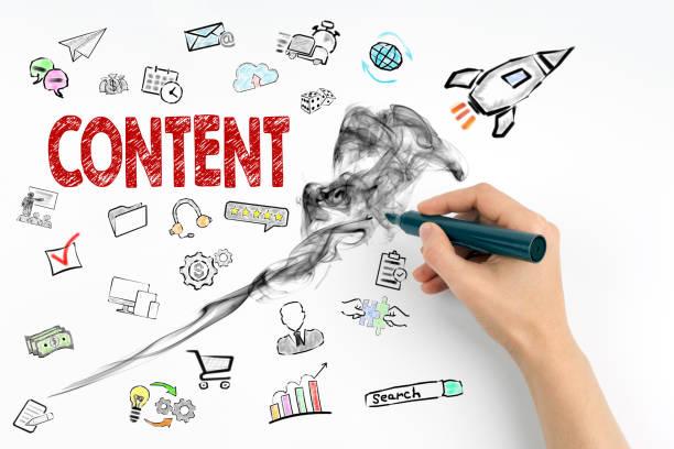 Content und social Media Konzept – Foto