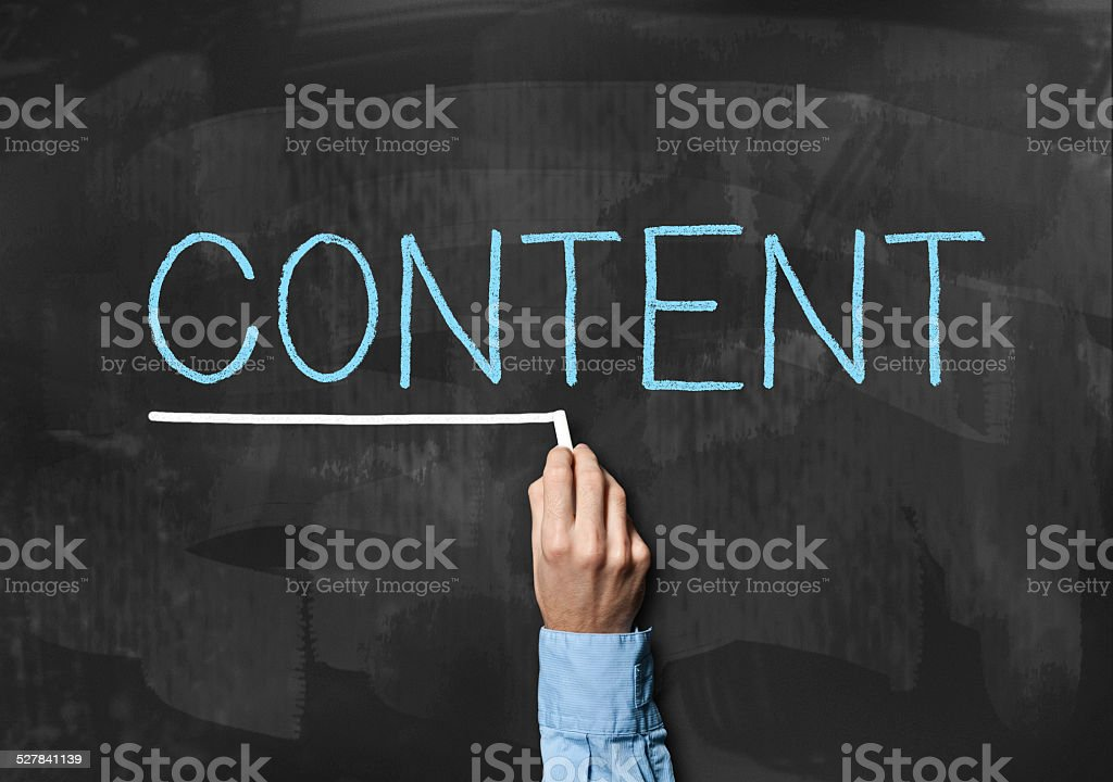 Content / Blackboard (Click for more) stock photo