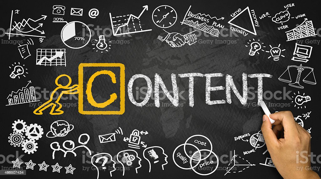 content concept stock photo