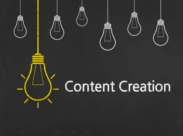 content creation - business chalkboard background - creation stock photos and pictures
