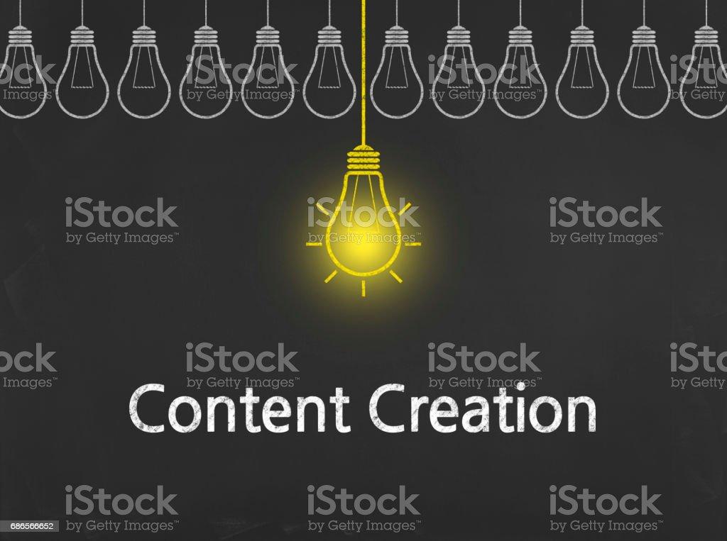 Content Creation - Business Chalkboard Background zbiór zdjęć royalty-free