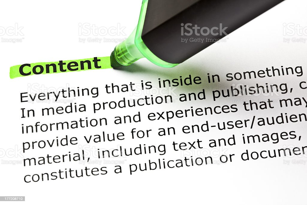 Content Definition royalty-free stock photo