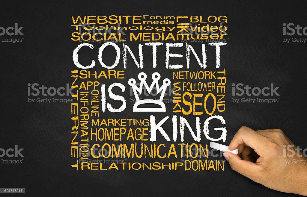 content is king concept stock photo