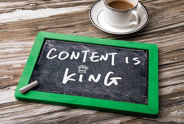 content is king handwritten stock photo
