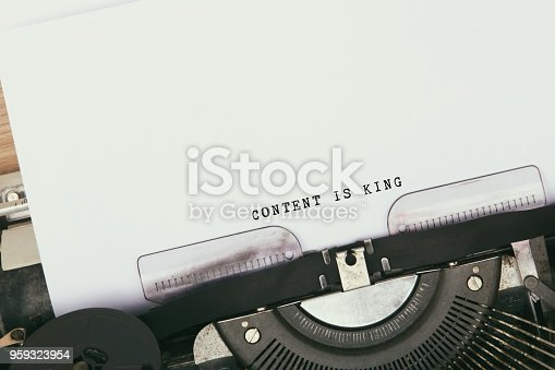 istock Content is king 959323954