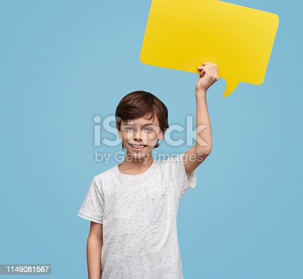465462550istockphoto Content kid with paper message box 1149081567
