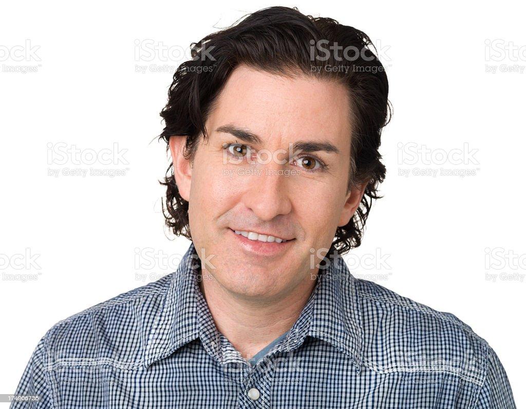 Content Man Close Up Portrait royalty-free stock photo