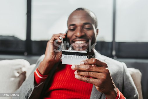 istock Content man connecting by mobile phone 929767576