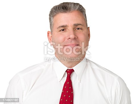 805011368 istock photo Content Man In Shirt And Tie 174901192